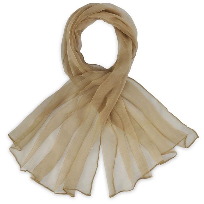 foulard mousseline soie gr ge uni marron allee du foulard la redoute. Black Bedroom Furniture Sets. Home Design Ideas