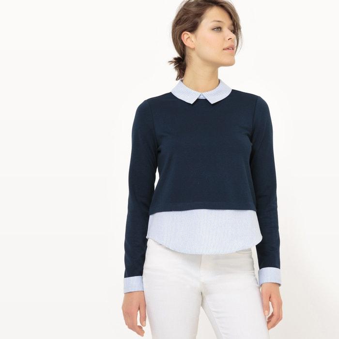 Image Dual Fabric Long-Sleeved Blouse VERO MODA