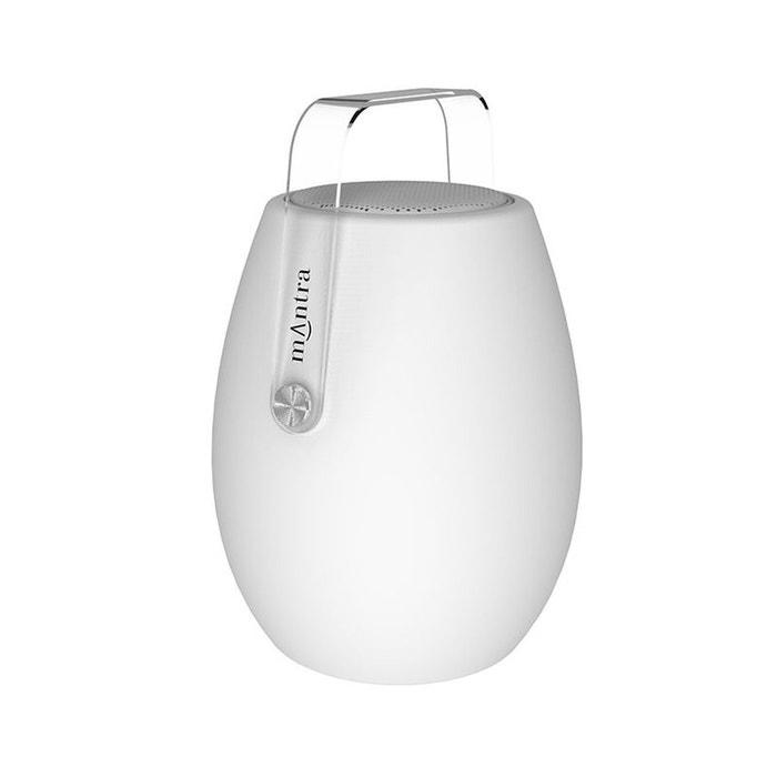 lampe design enceinte bluetooth led barrel blanc mantra la redoute. Black Bedroom Furniture Sets. Home Design Ideas