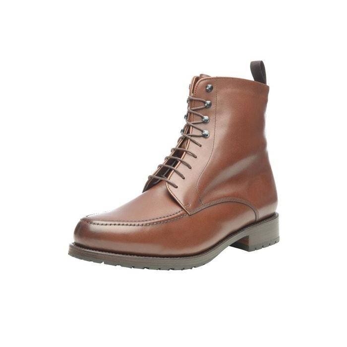 Boots norvégiens en marron marron foncé Shoepassion