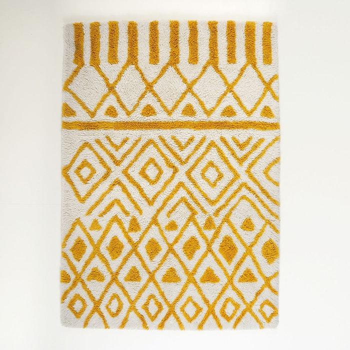 tapis en laine ocrul ecru jaune la redoute interieurs la redoute. Black Bedroom Furniture Sets. Home Design Ideas