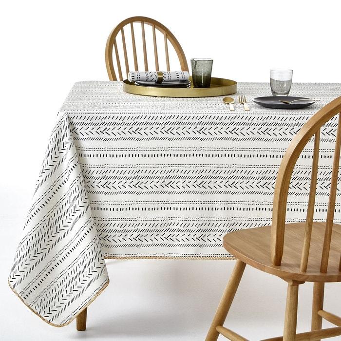 nappe imprim e maloja blanc imprim noir la redoute. Black Bedroom Furniture Sets. Home Design Ideas