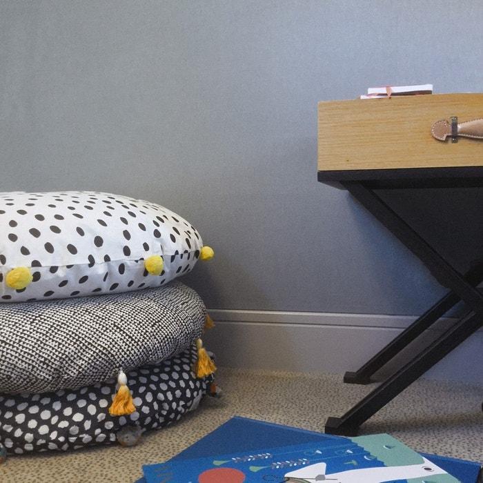 coussin de sol dot pompons jaunes jaune art for kids la redoute. Black Bedroom Furniture Sets. Home Design Ideas