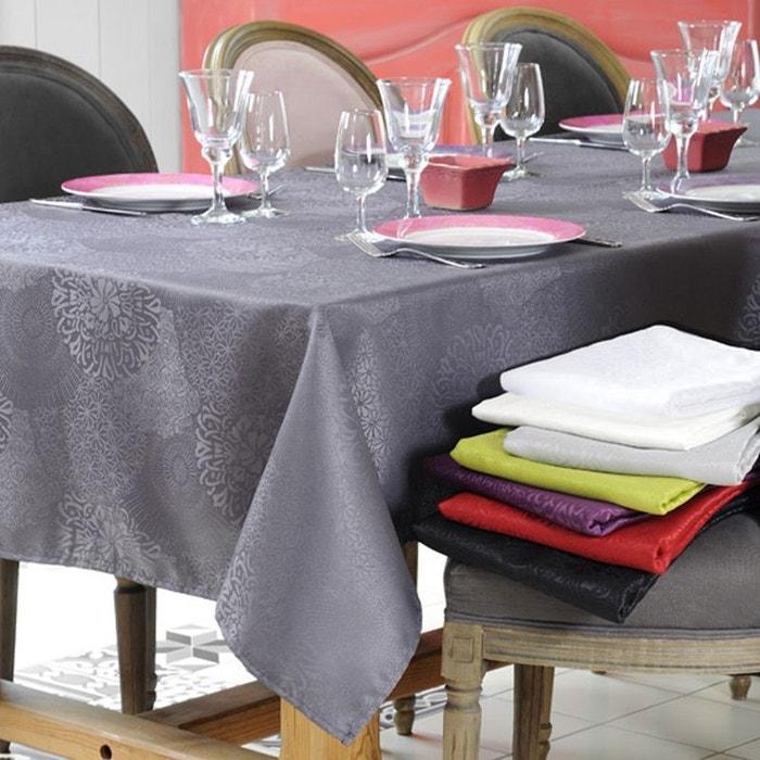 nappe antitache gris clair 140 x 240 cm couleur unique. Black Bedroom Furniture Sets. Home Design Ideas