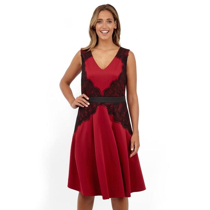 V-Neck Dress with Lace Inserts  LOVEDROBE image 0