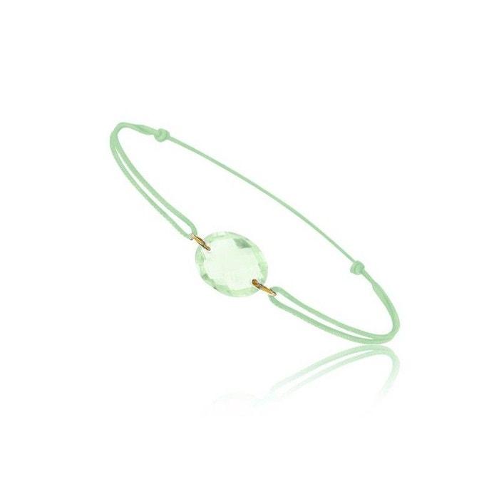 Livraison Gratuite À Acheter Se En Ligne Bracelet cordon vert avec quartz vert ovale ! vert Be Jewels | La Redoute Meilleurs Prix En Ligne Pas Cher Parfait En Ligne fSX5s4HY9v