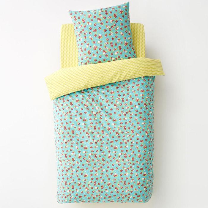 housse de couette imprim e enfant norabala bleu imprim. Black Bedroom Furniture Sets. Home Design Ideas