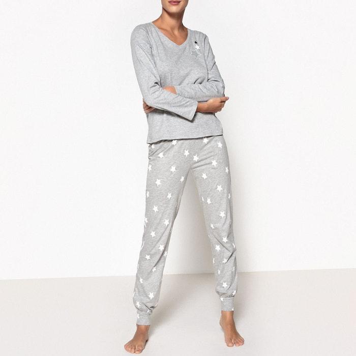 Pyjama imprimé étoiles  La Redoute Collections image 0