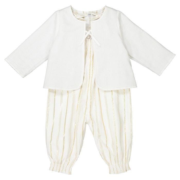 Ensemble bébé veste et combinaison 1 mois - 3 ans  La Redoute Collections image 0