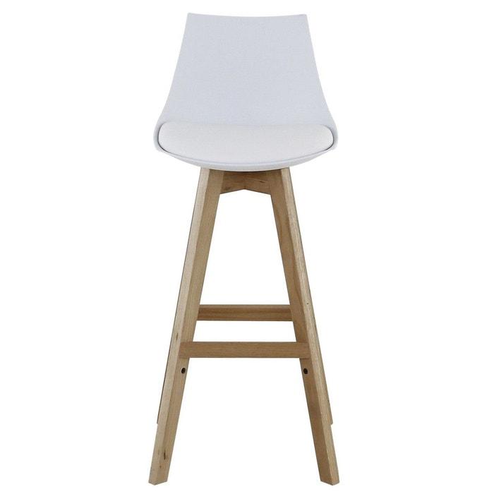 2x chaise de bar pi tement ch ne kim zago la redoute. Black Bedroom Furniture Sets. Home Design Ideas