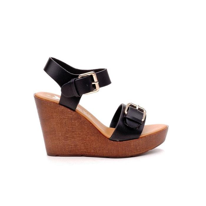 Sandale noir Xti Par Carte De Crédit En Ligne Pas Cher bR0WIxFzCV