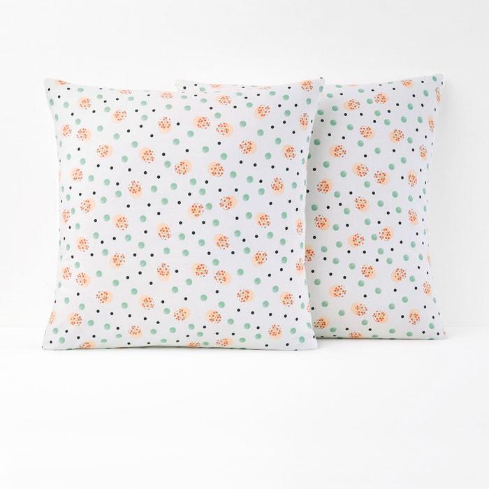 Flora Single Cotton Pillowcase  La Redoute Interieurs image 0