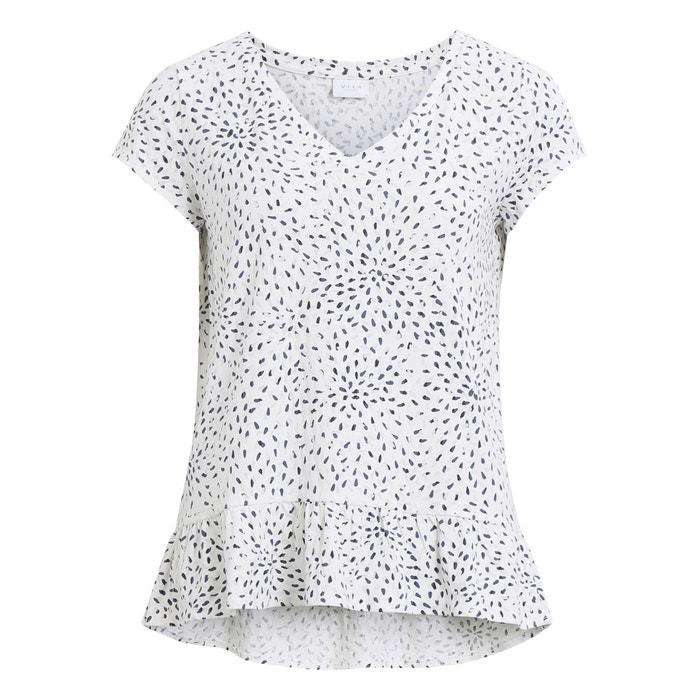 Printed Peplum T-Shirt  VILA image 0