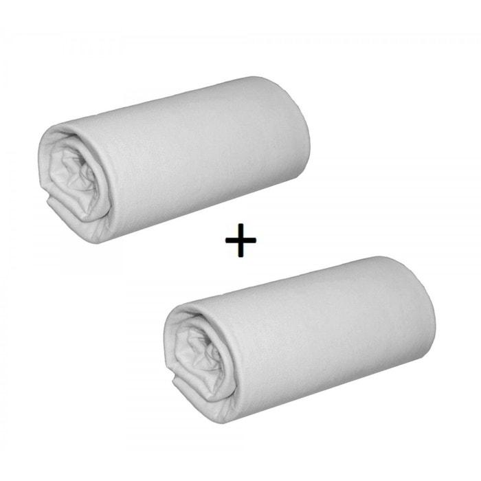 pack 2 draps housses jersey gris bonnet 30 cm gris terre de nuit la redoute. Black Bedroom Furniture Sets. Home Design Ideas