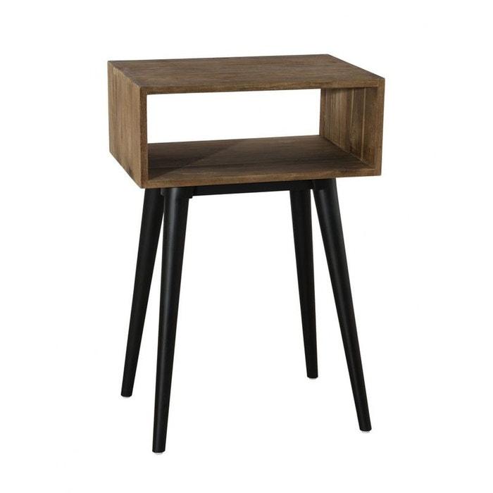 bout de canap table de chevet esprit scandinave en teck. Black Bedroom Furniture Sets. Home Design Ideas