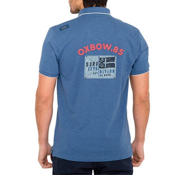 manga redondo y OXBOW corta con cuello lisa Camiseta zqTAwZS