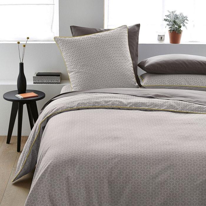 kaiteki printed cotton satin duvet cover la redoute. Black Bedroom Furniture Sets. Home Design Ideas