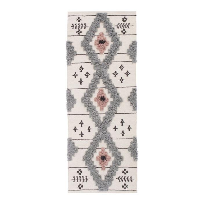 tapis de couloir style berb re melines gris blanc rose la redoute interieurs la redoute. Black Bedroom Furniture Sets. Home Design Ideas