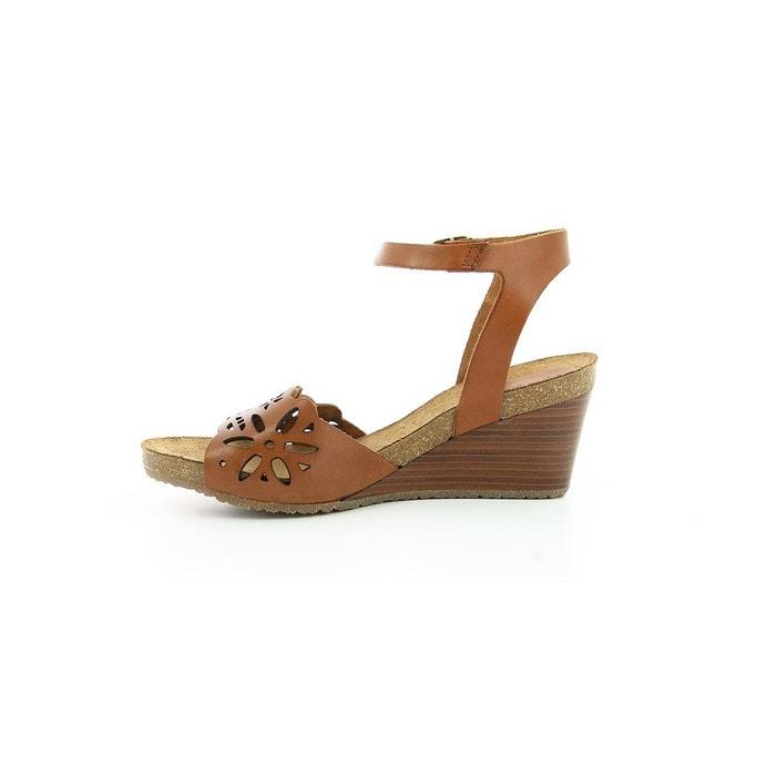 Sandales cuir femme simply marron Kickers