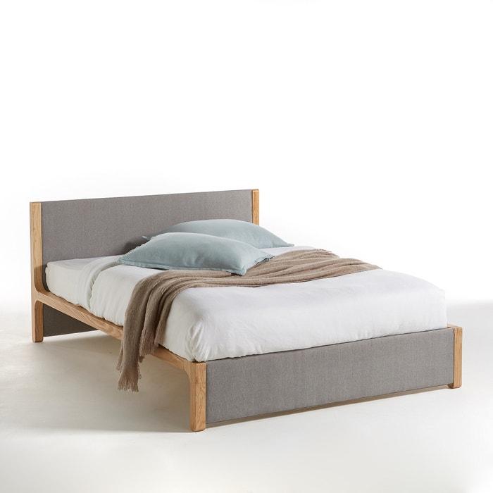 cama com sommier elori cinzento madeira la redoute interieurs la redoute. Black Bedroom Furniture Sets. Home Design Ideas