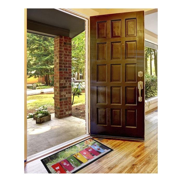 paillassons paillasson welcome fleur polyamide multicolore un amour de tapis la redoute. Black Bedroom Furniture Sets. Home Design Ideas