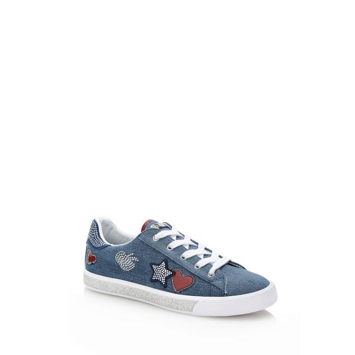 Sneaker memphis applications  bleu Guess  La Redoute