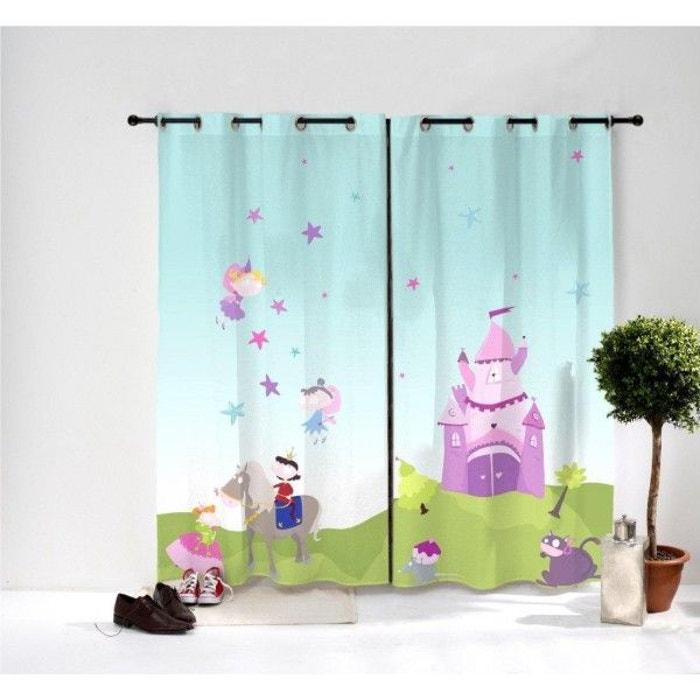 Paire de rideaux : princesse multicolore Decoloopio | La Redoute