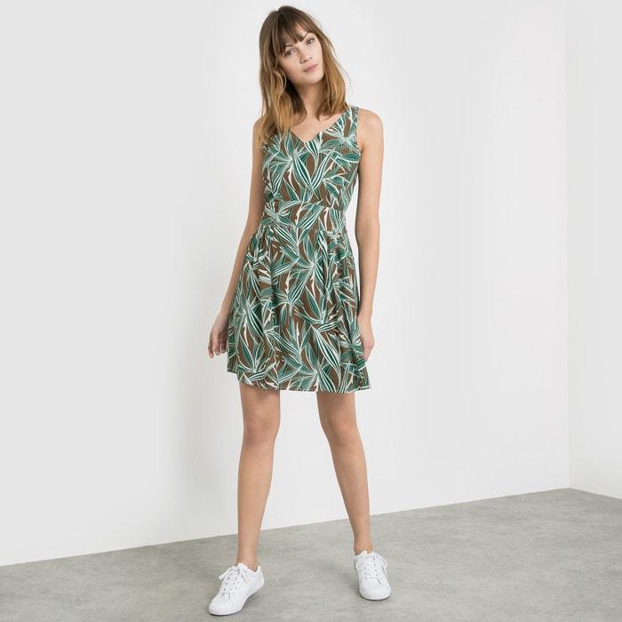 Image Leaf Print Mini Dress R studio