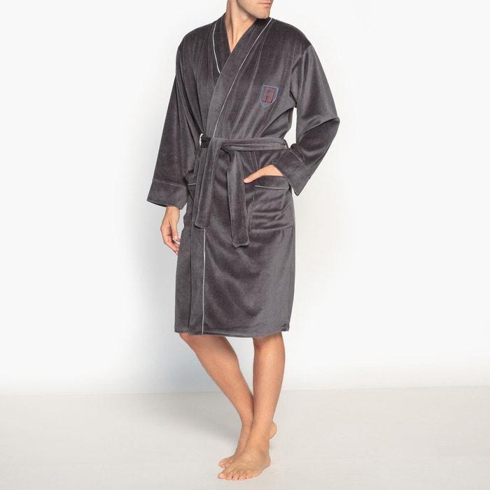 peignoir velours manches longues gris athena la redoute. Black Bedroom Furniture Sets. Home Design Ideas