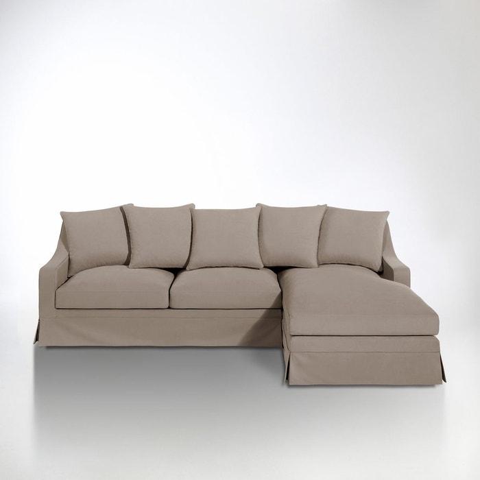 canap d 39 angle coton demi natt convertible conf la. Black Bedroom Furniture Sets. Home Design Ideas