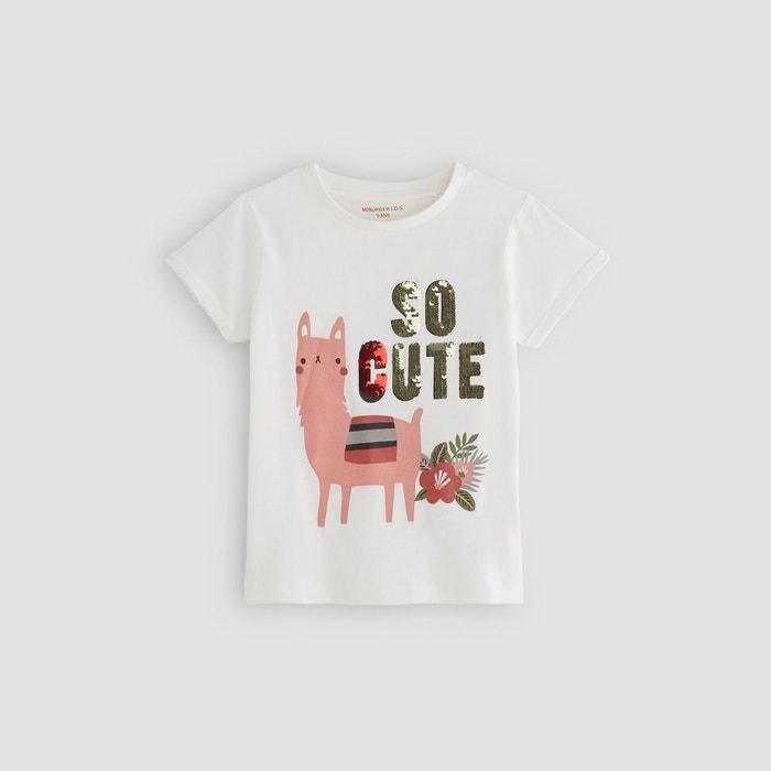 a6212135dc595 T-shirt manches courtes imprimé marron Monoprix Kids