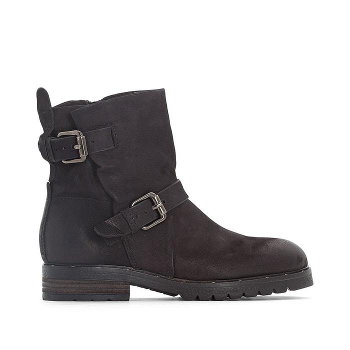 Boots cuir pepes noir Mjus