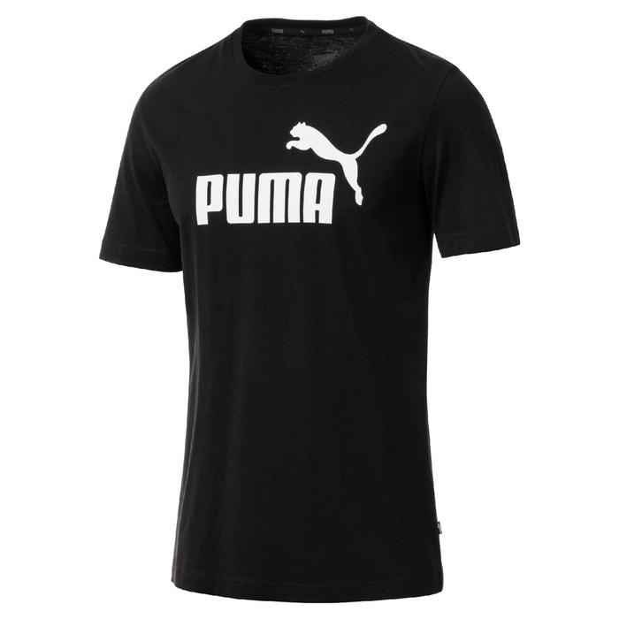 redondo estampado delante corta con manga cuello Camiseta de PUMA y OfwpAtXn