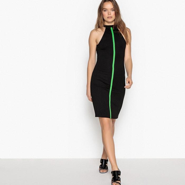 24eeb917198673 Aansluitende jurk met contrasterende stroken LA REDOUTE COLLECTIONS zwart