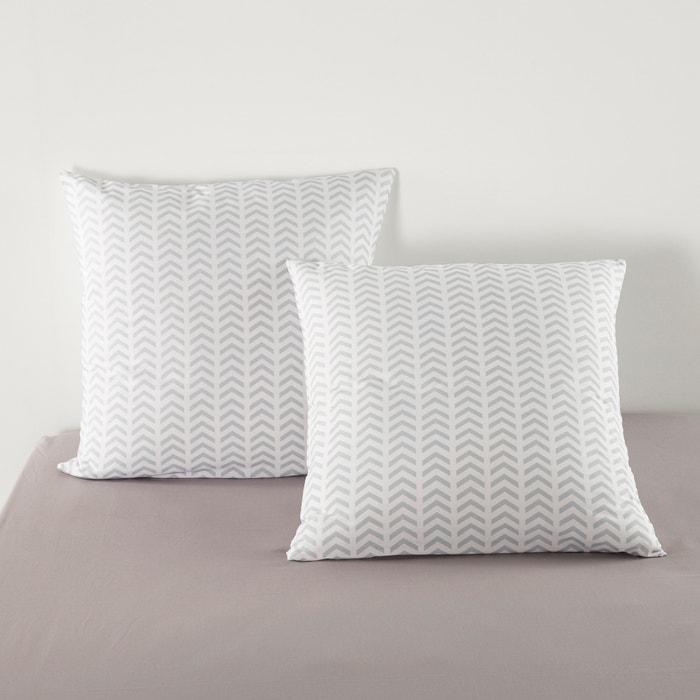 Fronha de almofada aos quadrados, BAMBI FLEURS, estampada, em algodão. La Redoute Interieurs