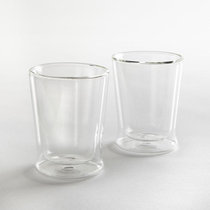 Confezione da 2 bicchieri in vetro doppia-parete  La Redoute Interieurs image 0