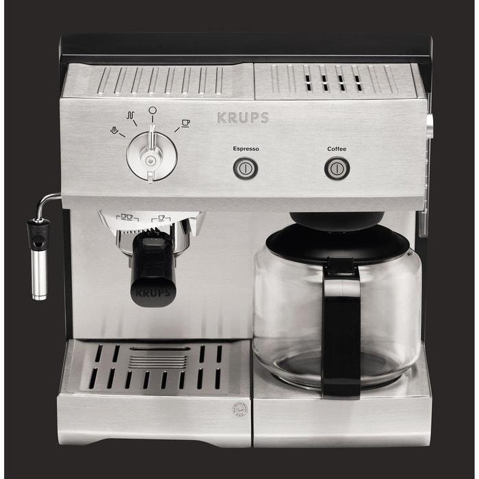 combin expresso caf filtre xp224010 inox krups la redoute. Black Bedroom Furniture Sets. Home Design Ideas