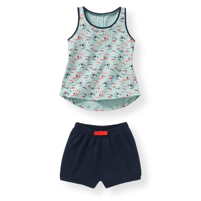 Imagen de Pijama con short de punto 2-12 años abcd'R