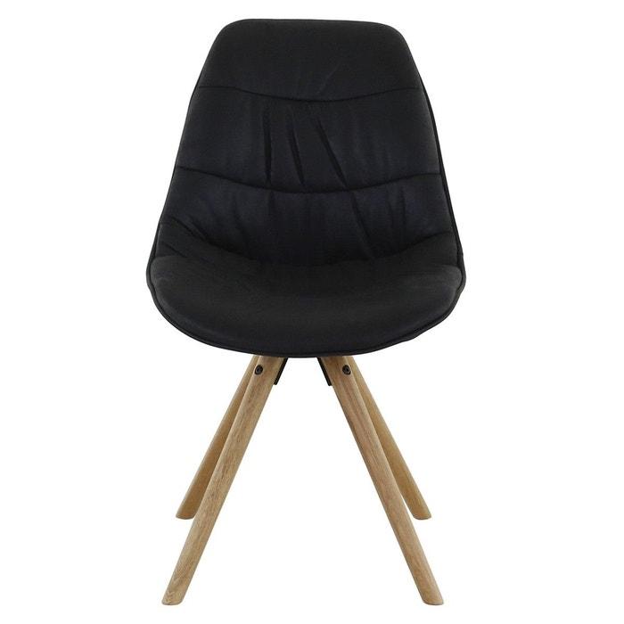2x chaise pi tement ch ne licia zago la redoute. Black Bedroom Furniture Sets. Home Design Ideas