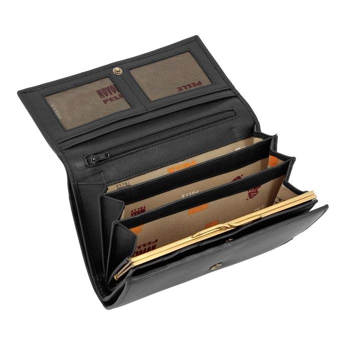 Grand portefeuille pour femme en cuir véritable avec poche zippée porte Original Livraison Gratuite Classique Sortie 2ipa39L3s
