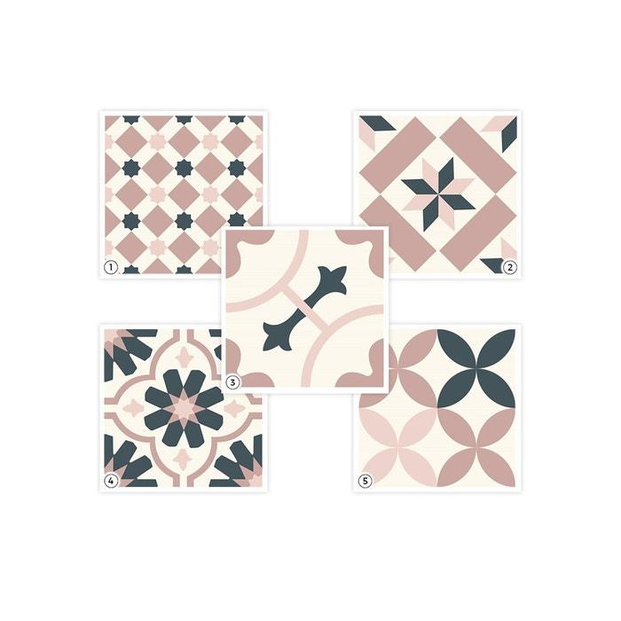 set sticker carreaux de ciment a rose rose papermint la redoute. Black Bedroom Furniture Sets. Home Design Ideas