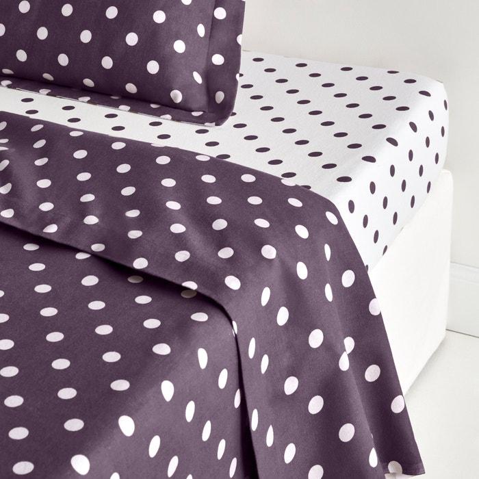 CLARISSE Polka Dot Cotton Flannel Sheet  La Redoute Interieurs image 0