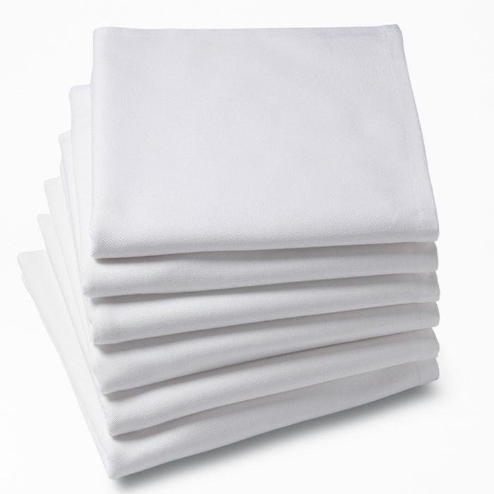 Serviettes de table unies, pur coton, (lot de 6)  SCENARIO image 0