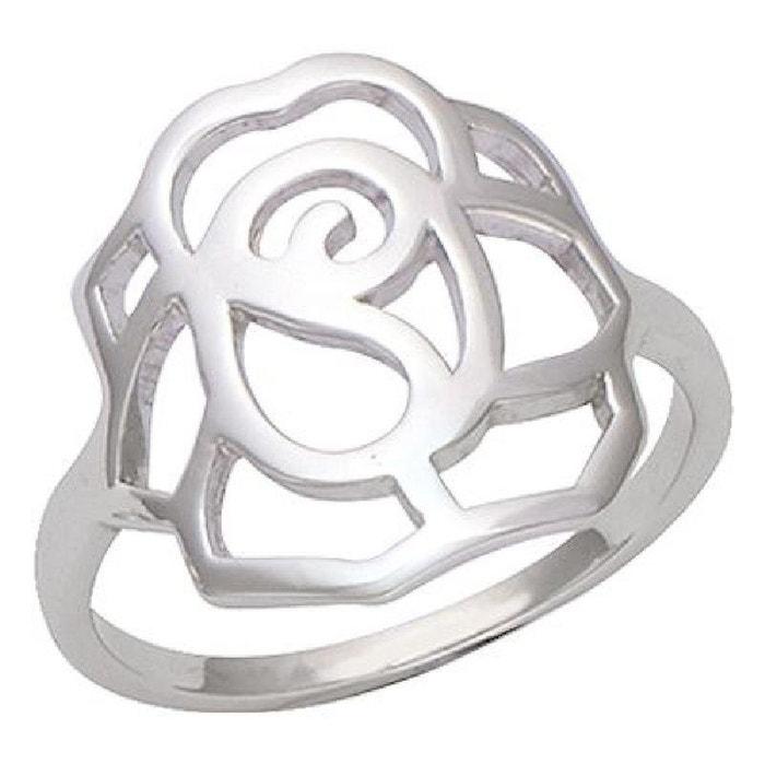Bague Fleur Rose Ciselee Argent 925 So Chic Bijoux La Redoute