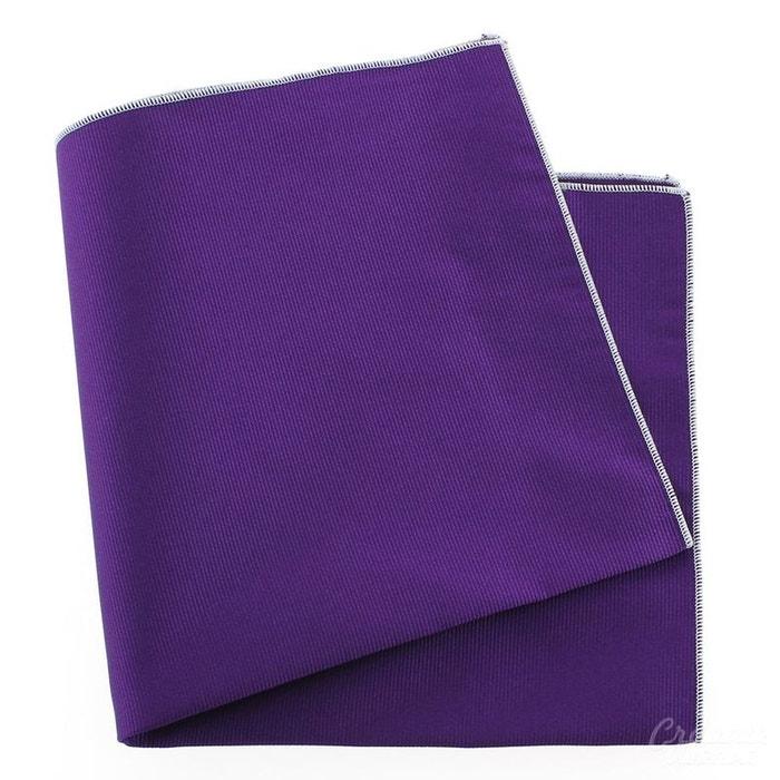 Pochette soie, mauve mammola, ourlet blanc violet Tony Et Paul | La Redoute