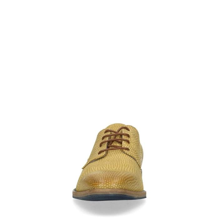 Chaussures à lacets avec motif peau de serpent - jaune (40,41,42,43,44,45,46)