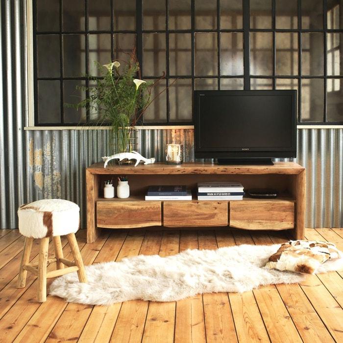 Meuble tv en acacia style tronc arbre 3 tiroirs rasam bois made in meubles la redoute - Meuble tronc arbre ...