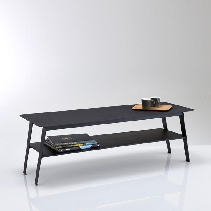 Lage tafel met dubbel plateau in metaal hiba zwart la redoute interieurs la redoute - Decoratie tafel basse ...