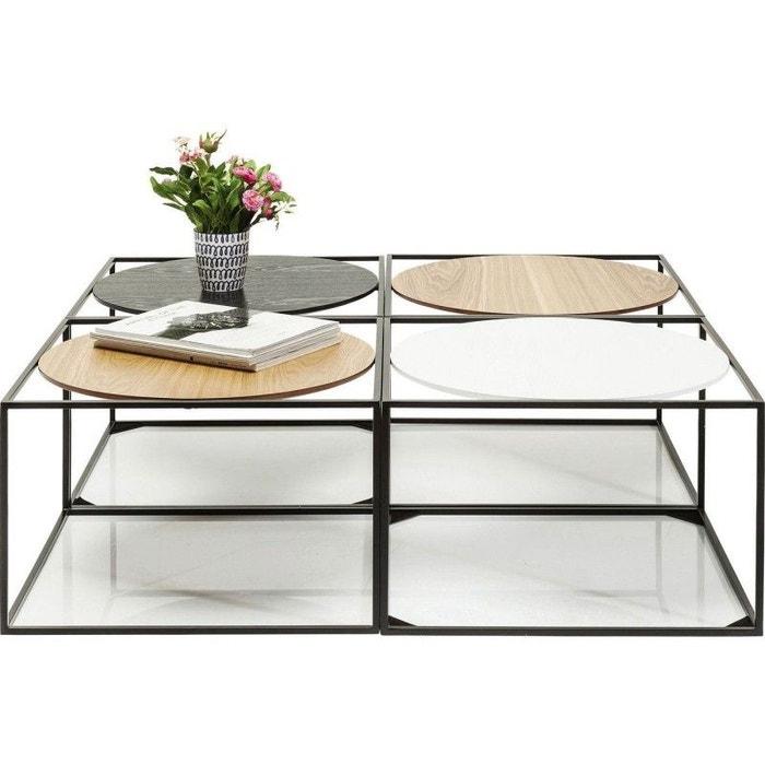 table basse quattro circles 100x100cm kare design bois kare design la redoute. Black Bedroom Furniture Sets. Home Design Ideas