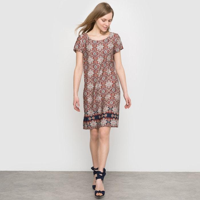 afbeelding Bedrukte jurk met korte mouwen La Redoute Collections